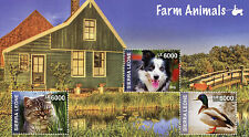 Sierra Leone 2014 MNH Farm Animals 3v M/S I Pets Cats Dogs Ducks Stamps