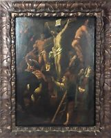 CRUCIFITION. OIL ON CANVAS. ANONYMOUS. FLEMISH SCHOOL. XVII-XVIII CENTURY.