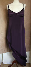 Strappy Deep Purple Asymmetric Hem Party Dress - Size 14 - John Charles