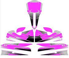 Custom m4 full Kart autocollant Kit-Rose-Karting
