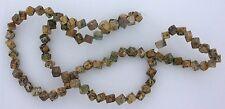 4mm Cube Dice Square Gemstone Gem Leopardskin Jasper Beads 15 Inch Strand LBS15