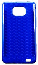 Dark Blue Luxury Diamond Gel Case for Galaxy S2 phone Back Cover