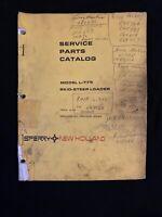 New Holland Service Parts Catalog Model L-775 Skid Steer Loader *1293