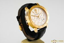 BULGARI  CHRONOGRAPH  BB 42 GLCH  AUTOMATIC  18K GOLD  XL SIZE   42MM  BOX&PAP