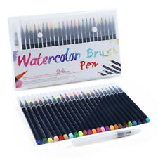 24 Paint Markers Watercolor Brush Pens with Flexible Brush Tips Professional Set