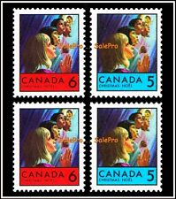2x CANADA 1969 CANADIAN CHRISTMAS NOEL PRAYING MINT FACE 20 CENT STAMP SET LOT