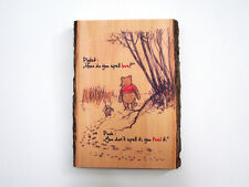 WINNIE THE POOH Wood Sign - How do you spell love - Natural Edge Wood Plaque