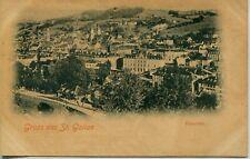 Switzerland St. Gallen - Panorama old postcard