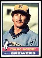 1976 Topps Baseball Nm-Mt Eduardo Rodriguez Milwaukee Brewers #92