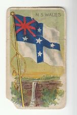 [57827] OLD TOBACCO CARD SWEET CAPORAL LITTLE CIGARS NEW SOUTH WALES FLAG