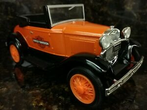 Harley-Davidson Limited Ed. 1929 Model A Roadster Die Cast Bank 1:25 Scale New