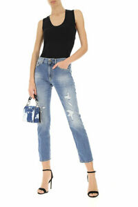 Jeans Donna DONDUP DP428 JENNA Blu in Cotone Misura W 28 IT 42 Made in Italy