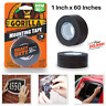 Heavy Duty Double Sided Mounting Industrial Strength Tape 1 In x 60 Inches Black