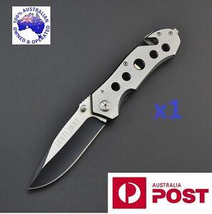 NEW Heavy duty stainless steel handle lock survival knife outdoor Folding knife