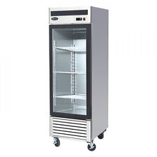 New Stainless Steel Single 1 Door Glass Freezer Merchandiser Display Case