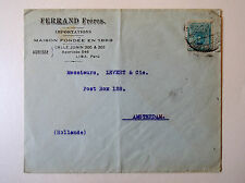 PERU censor  4133 french comercial cover WWI to Amsterdam post box single frank