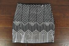 NEW EXPRESS Womens Sequin Bling Print Mini Skirt Size X-Small NWT Party Disco