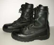Belleville Black Leather Combat Boots SZ Mens 7 Wide Distressed