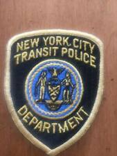Vintage New York City Transit Police Uniform Patch