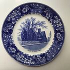 House of Seven Gables plate Blue Salem MA Haunted House Collectible Staffordshir