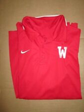 Mens Nike Dri Fit Golf athletic collared golf shirt M Md Med Wisconsin Badgers