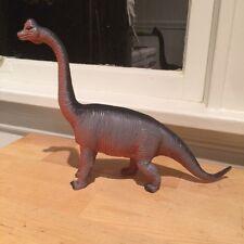Retro Plastic Dinosaur Brachiosaurus Toy Figurine Purple and Orange
