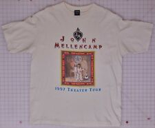Kohn Mellencamp Mr. Happy Go Lucky Theater Tour 1997 Cream XL T-Shirt