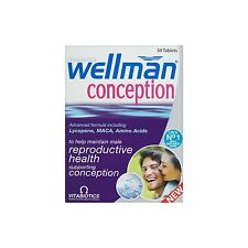 2 x Vitabiotics Wellman Conception Tablets 30 Capsules **Brand New & Boxed**