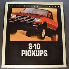 1984 Chevrolet S-10 Pickup Truck Brochure Tahoe 4x4 Durango Excellent Original