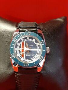 Magnifique montre plongée TIMEX 25M. vintage 70s  montre mécanique TBE 28mm
