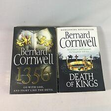 2 Bernard Cornwell Books - Death Of Kings, 1356 - Bundle