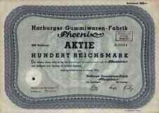 Phoenix AG 1934 Harburg Hambourg FIRESTONE Continental Hanovre Bremen 100 RM