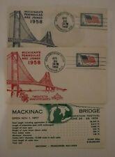 PSPS Mackinac Bridge Birmingham MI 1958 Philatelic Expo Cachet Cover