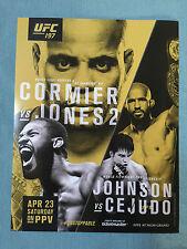 """UFC 197 CORMIER VS JONES 2 MINI SIZE POSTER 11""""X8.5"""""""