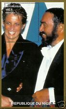 LADY DIANA, PRINCESS OF WALES WITH LUCIANO PAVAROTTI