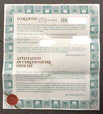 Garanzia Rolex Originale Cartacea Lettera A Senza Nome E Data No Prezzo Riserva!