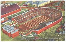 1950s--MINNESOTA GOLDEN GOPHERS--FOOTBALL STADIUM---LINEN POSTCARD--NMT