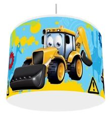 JCB TRUCK AND DIGGERS  LIGHT SHADE KIDS ROOM matches duvet set   FREE P&P