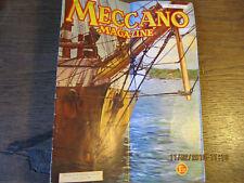 Revue MECCANO Magazine Août 1936