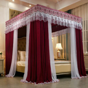 Luxury Mosquito net set Double rod double layer mosquito net Winter bed curtains