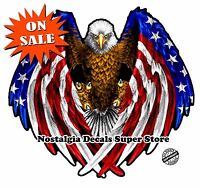 """American Flag Eagle Wings Reflective Decal 5.5"""""""