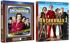 Anchorman 1 & 2 Blu-ray bundle (with collectibles)