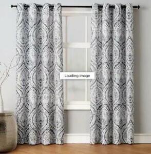 "== Avondale Manor Vera Room Darkening Curtain Panel Pair 54"" X 84"" Gray 144642"