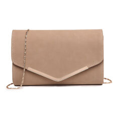 Ladies Elegant Chain Evening Envelope Clutch Banquet Cross Body Shoulder Bag