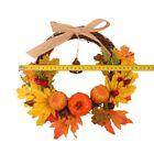Halloween Fall Door Pumpkin Wreath Autumn Maple Leaf Bell Garland Home Decor