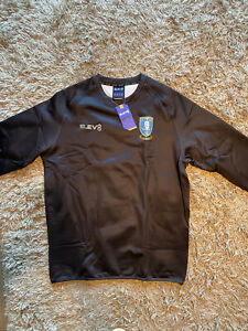 Sheffield Wednesday Black Sweatshirt Jumper Training Top Mens Large