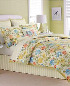 Martha Stewart Collection Wild Hydrangea 4 Piece Twin Comforter Set o1116