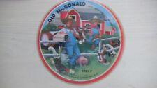 OLD MACDONALD Record Guild of America Cardboard Picture Record 78rpm 50s