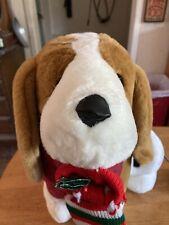 Santas Best Holiday Animation large Beagle dog with Christmas stocking
