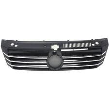 NEW 2012-15 FITS VOLKSWAGEN PASSAT GRILLE PAINTED BLACK VW1200155 561853651BOQE
